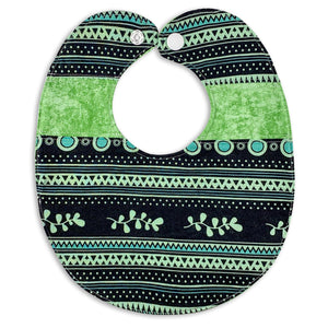 Dots, Stripe, Squiggle in Green Bib