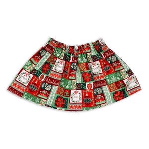Conifers In Snow Reversible Skirt