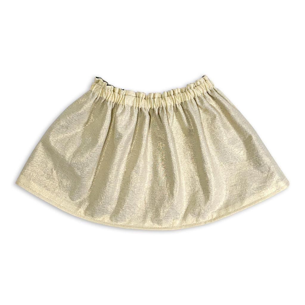 Gold & Mistletoe Reversible Skirt
