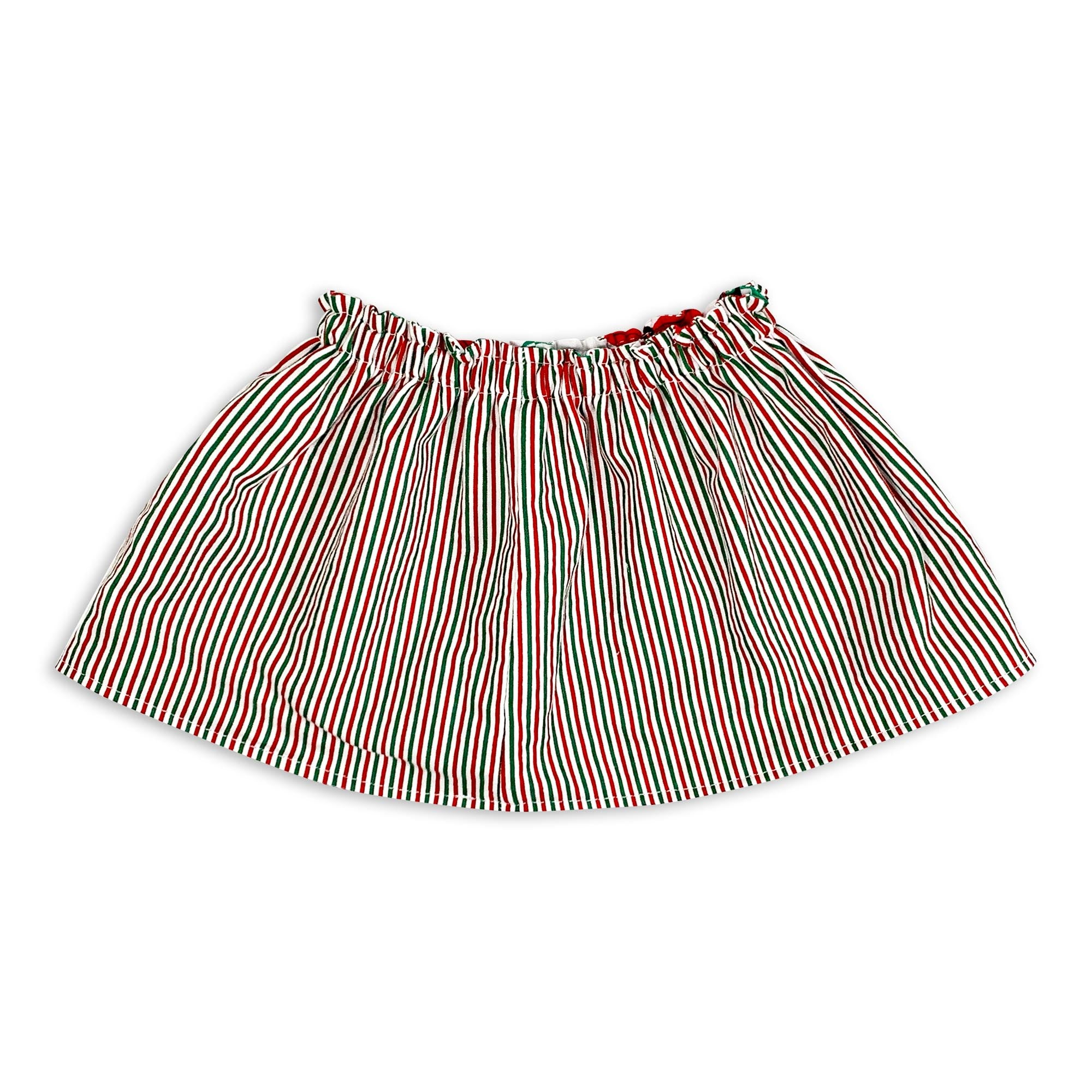 Stripes & Mistletoe Reversible Skirt