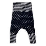 Black Dots and Stripes Forever Harem Pants