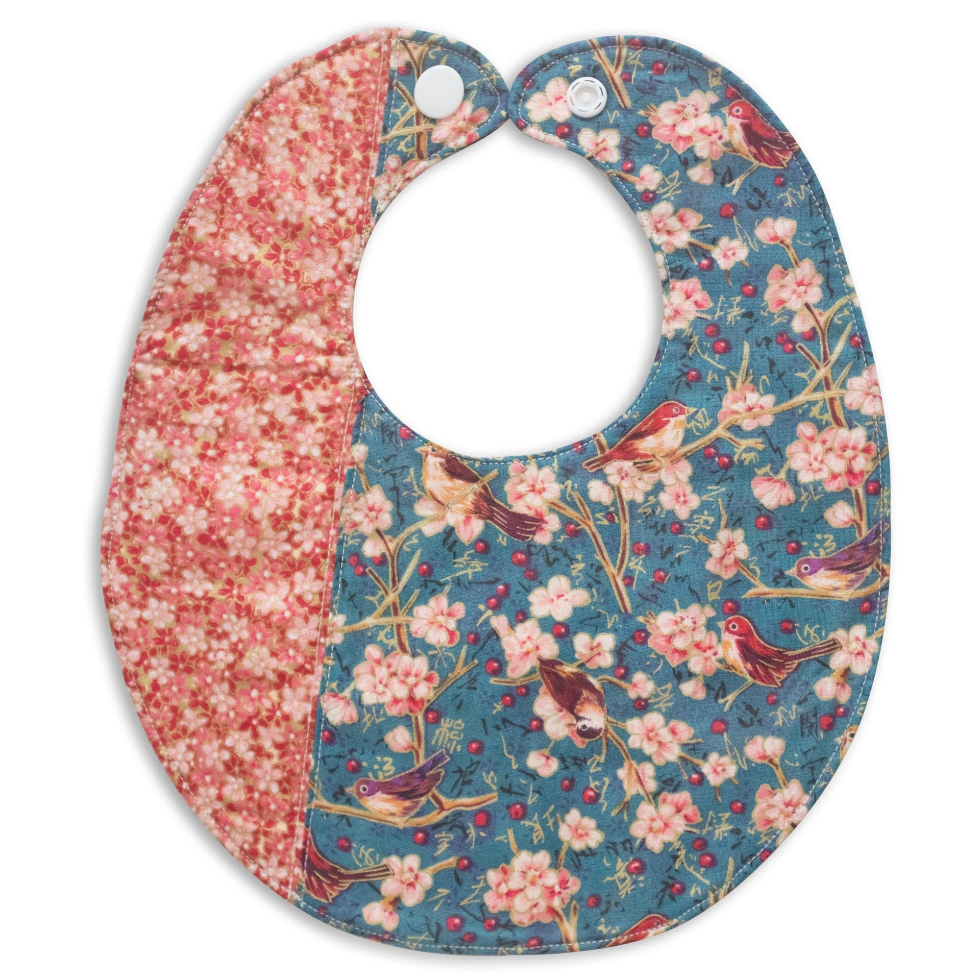 Birds and Blossoms Bib