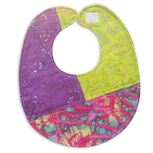 Right Angles Meets Pink Tie Dye Bib