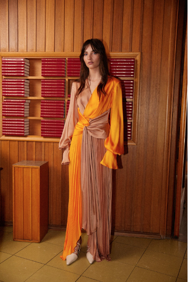 Acler Dress Empire Dress, Pumpkin Soho-Boutique