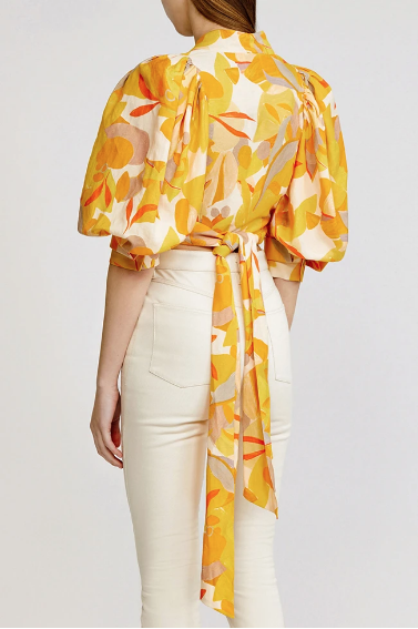 Acler Top Corsica Wrap Top, Golden Soho-Boutique