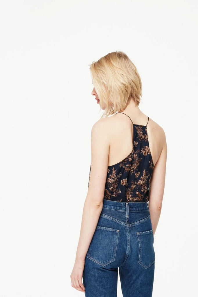 Cami NYC Top The Racer Chiffon, Toile Print Soho-Boutique
