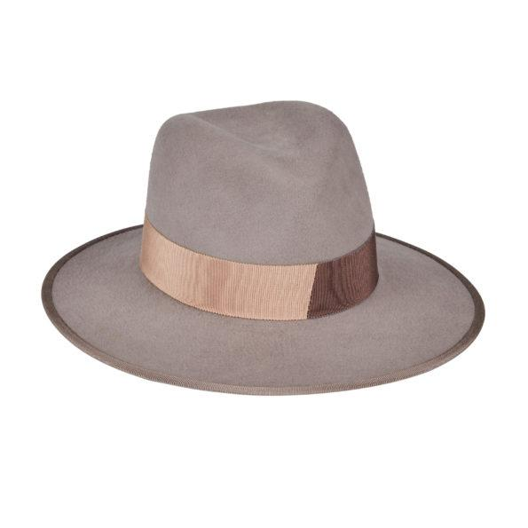 D'ESTREE Hat Christopher Felt Light Grey Fedora Soho-Boutique