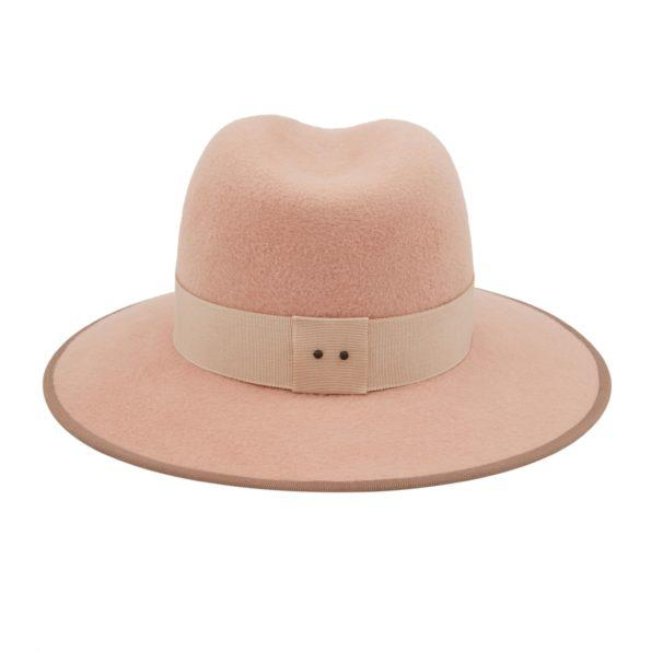 D'ESTREE Hat Christopher Nude Felt Fedora Soho-Boutique
