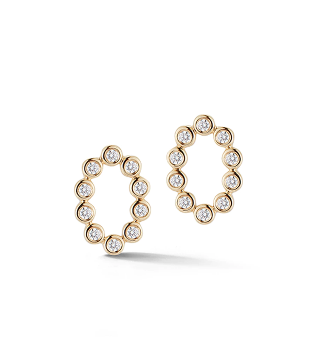 Dana Rebecca Designs Earrings Lulu Jack Open Oval Studs Soho-Boutique