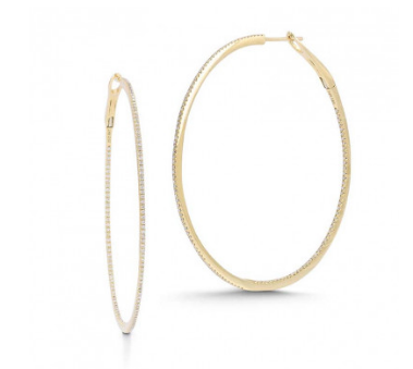 Dana Rebecca Designs Fine Jewelry DRD Large Hoops Soho-Boutique