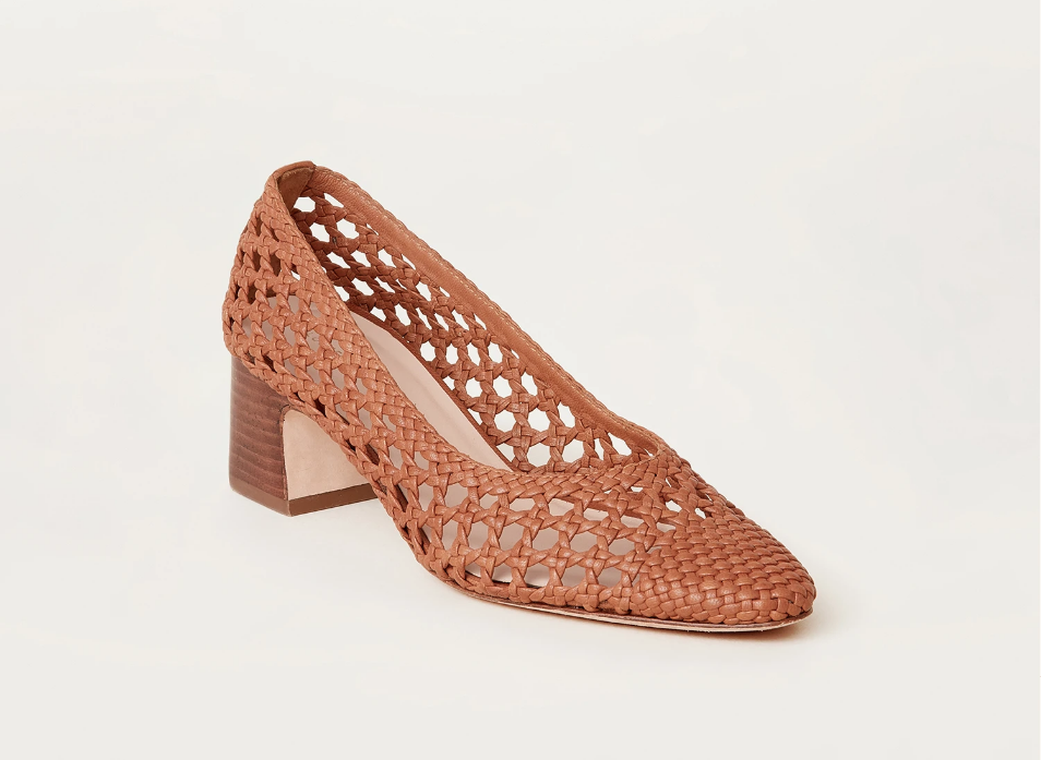 Loeffler Randall Shoe Imogene Woven Leather Pump, Timber Soho-Boutique