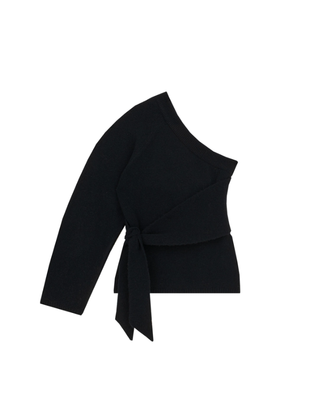 Nanushka Sweater Cleto Sweater, Off-Black Soho-Boutique