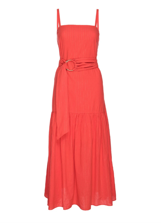 NATION LTD Dress Anais Belted Sun Dress, Chili Soho-Boutique