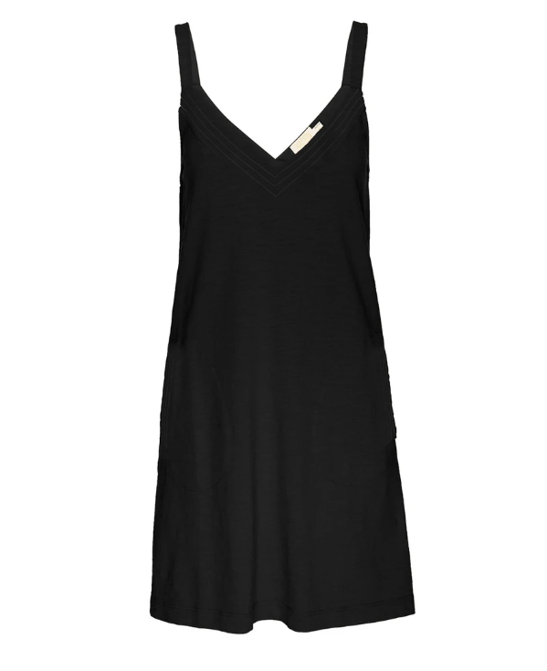 NATION LTD Dress Larkin A-Line Mini With Contrast, Black Soho-Boutique