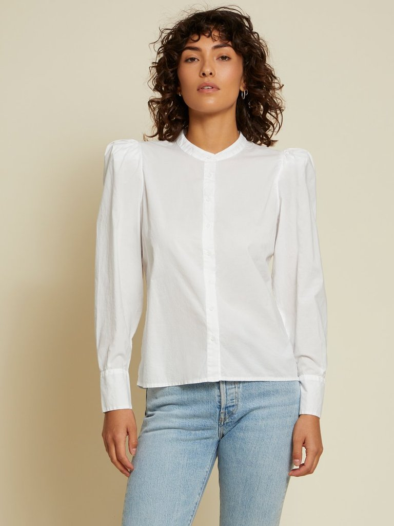 NATION LTD Top Tallulah Top, White Soho-Boutique