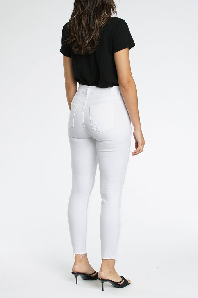 Pistola Denim Aline White Denim, Polarize Soho-Boutique