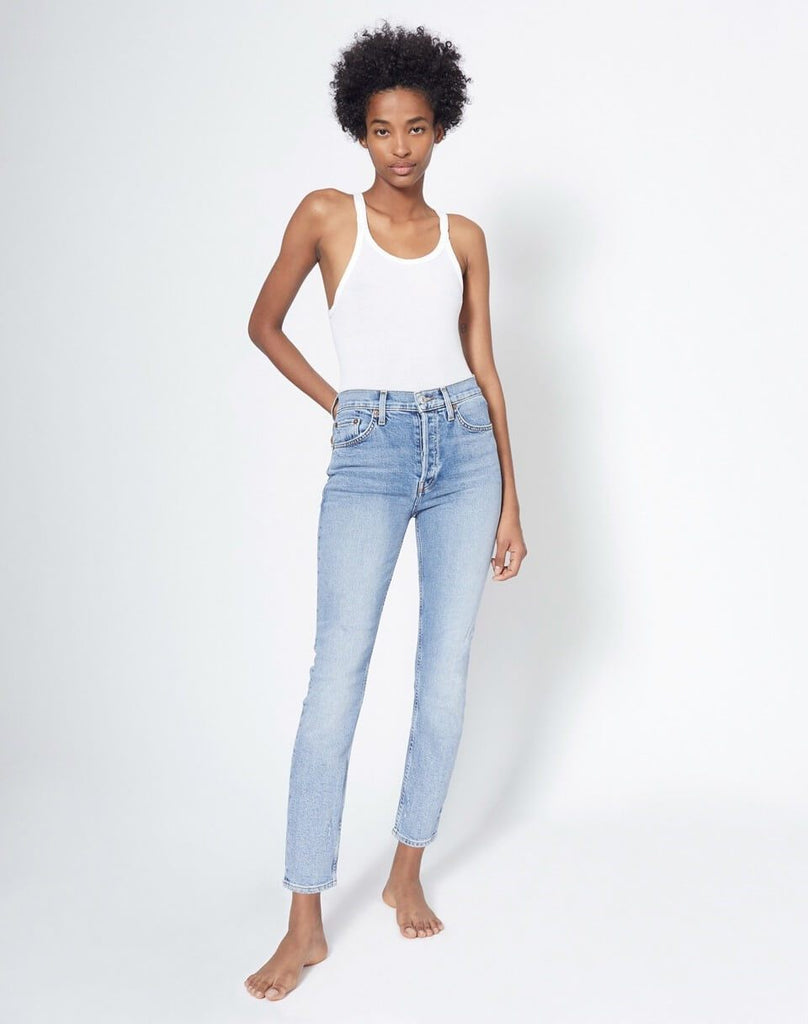 RE/DONE Denim 90s High Rise Ankle Crop Denim, Mid 90s Soho-Boutique