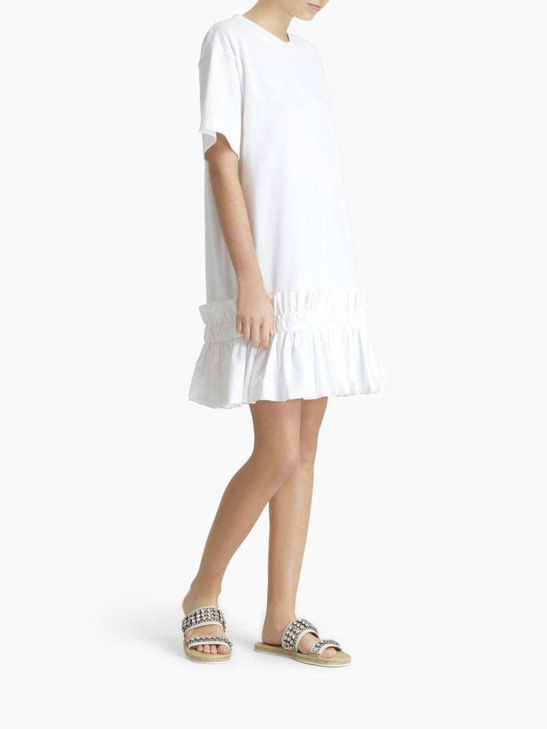 See By Chloe Dress Ruffle Bottom T Shirt Dress Soho-Boutique