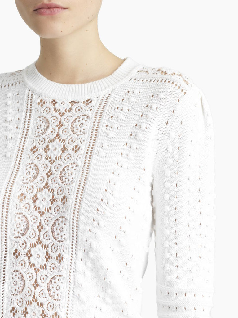 See By Chloe Sweater Fitted Lace Sweater Soho-Boutique