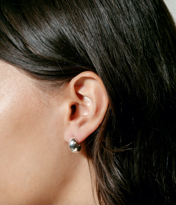 Wolf Circus Earrings Small Remy Hoops, Silver Soho-Boutique