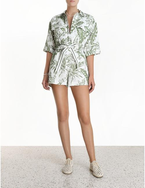 Zimmermann Romper Empire Utility Playsuit Soho-Boutique