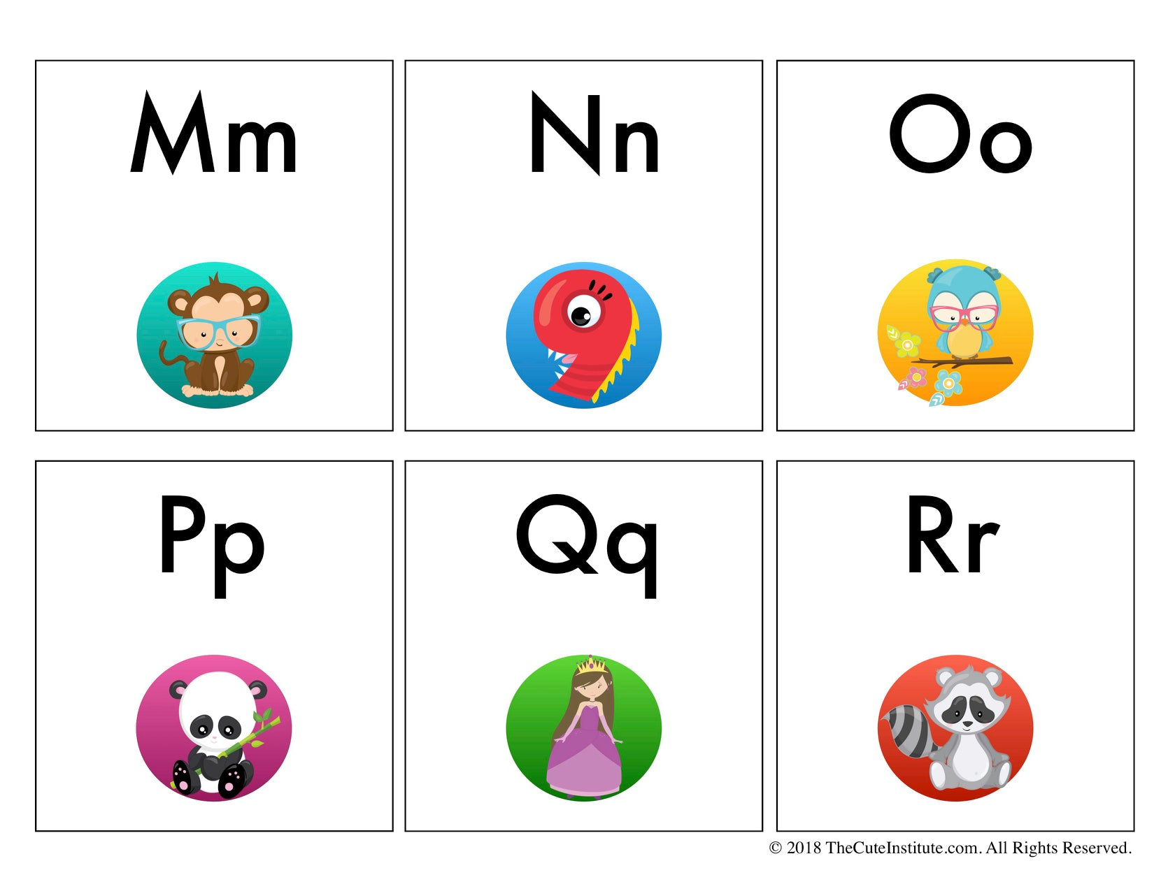 ABC Flash Cards -26 Mixed Case Letters