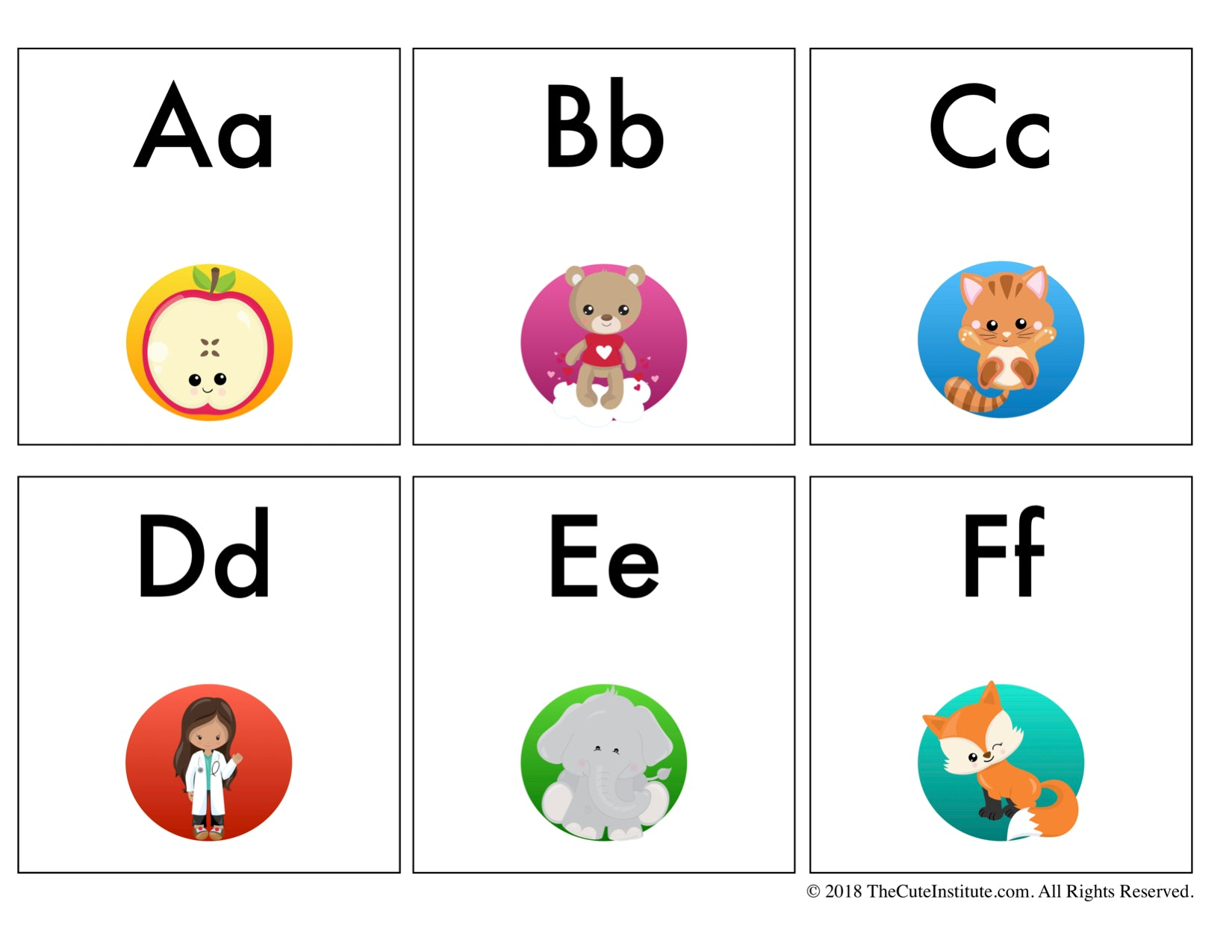 mixed case letter abc flash cards 3 set bundle letters lower 23671 | CuteInstituteFlashcardBundle Pic 3