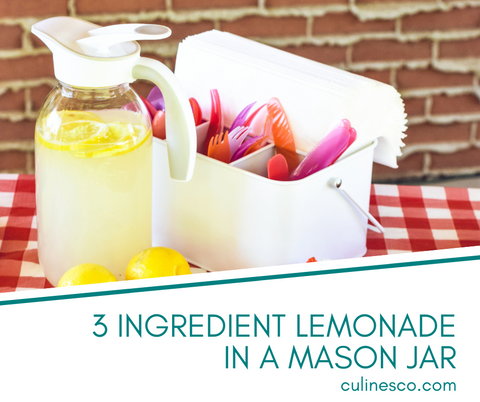 3 Ingredient Lemonade in a mason jar