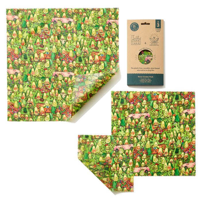 Jelly Armchair Avocado Park Print Vegan Wax Wraps