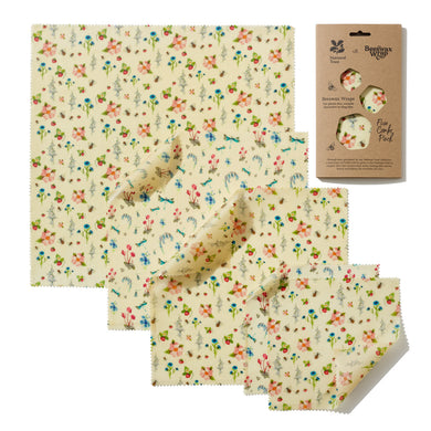 National Trust Summer Blooms Print Beeswax Wraps