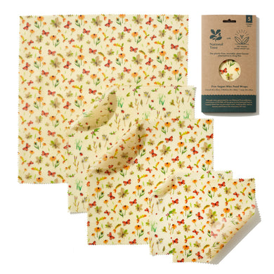 National Trust Autumn Leaves Print Vegan Wax Wraps