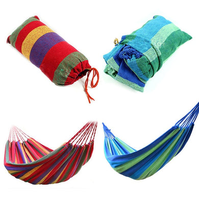 Portable Hammock Outdoor for Home Travel Camping Striped