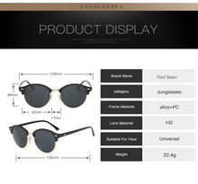 Load image into Gallery viewer, Hot Rays Sunglasses Women Popular Brand Designer Rivet Frame Colorful Coating Shades