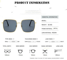 Load image into Gallery viewer, Square frame vintage sunglasses Women Oversized Black UV400 Eyewear