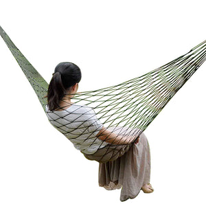Portable Nylon Hammock Swing Hang Mesh Net for Outdoor Travel Camping