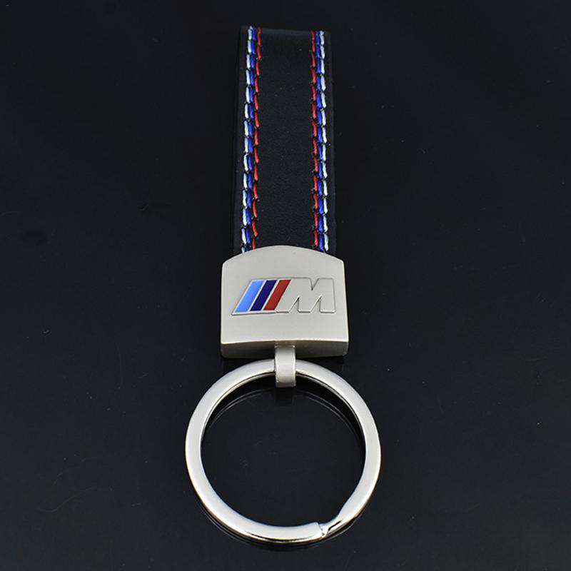 Metal & Leather BMW M Sport Keychain - Cadille