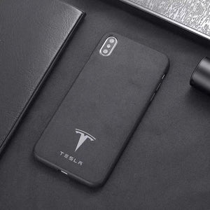 Tesla Luxury Alcantara iPhone Case - Cadille