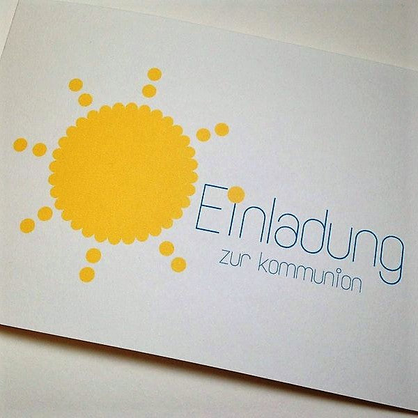 Kommunion/Konfirmation - SONNE