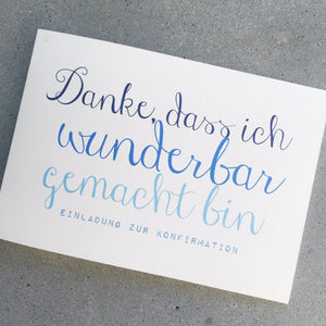 Kommunion / Konfirmation -  WUNDER.BAR