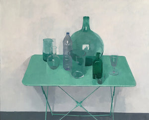 Objects on a Green Table
