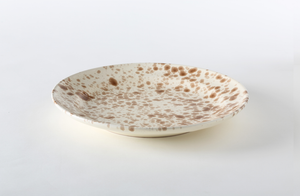 Brown on Cream Splatterware Dinnerware