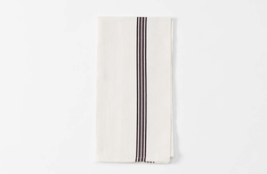 White and Brown Piano Stripe Kitchen Towel