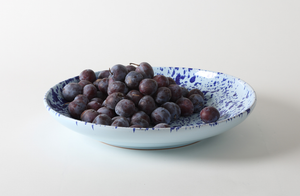 Blue on Blue Splatterware 17 Inch Platter