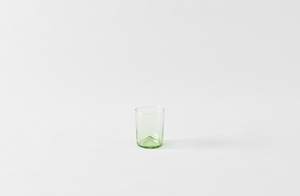Il Buco Vita Green Mouth Blown Glass Tumblers