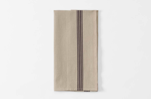 Natural and Brown Piano Stripe Kitchen Towel