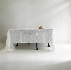 Italian White Sangallo Tablecloth