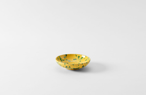 Green on Yellow Splatterware Dinnerware