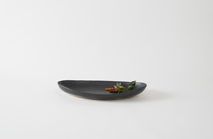 Christiane Perrochon Black Small Long Oval Dish