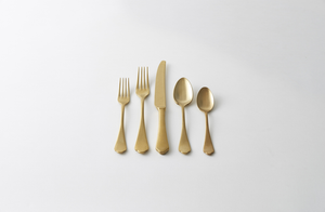 Dolcevita Gold Pewter Flatware Set