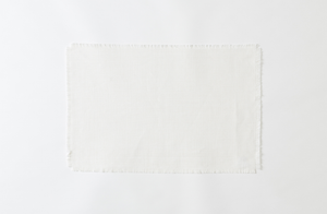 Boxwood Linen Oyster Fringed Placemat